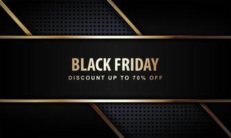zwarte vrijdag poster met luxe stijl vector