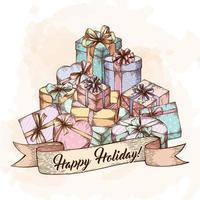 geschenkdoos wenskaart vector