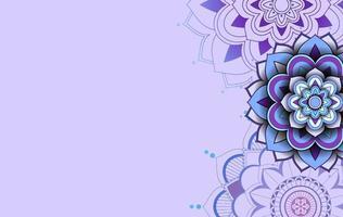 paars, blauw ontwerp als achtergrond met mandalapatronen vector