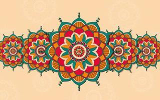 achtergrond met kleurrijk mandalaontwerp vector