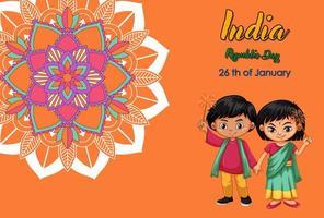 feestdag posterontwerp met gelukkige kinderen
