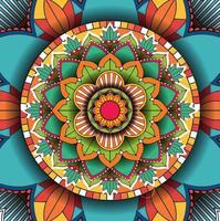 kleurrijk ontwerp als achtergrond met mandalapatroon vector