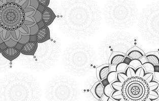 grijs mandalaontwerp als achtergrond vector