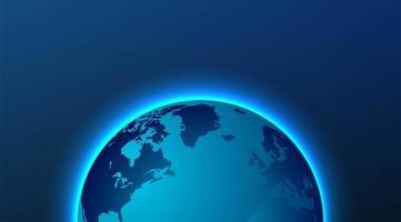 gloeiend wereldkaart achtergrondontwerp vector