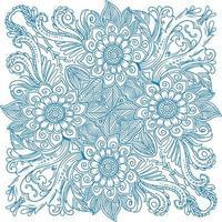 decoratieve versiering hand getekend florale achtergrond vector