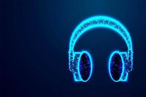 hoofdtelefoon laag poly abstract ontwerp