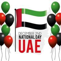 vae banner met vlag om de nationale feestdag te vieren