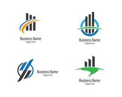 zakelijke financiën logo set