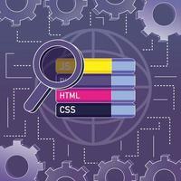 programma codering concept vector