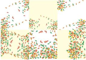 Shwooshing bladeren vallen achtergrond vector
