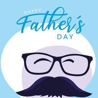 gelukkige vaderdagkaart met herengezicht