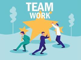 groep zakenlieden avatar karakter vector