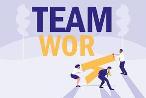 groep ondernemers avatar karakter vector