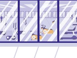 sport sportschool scène geïsoleerde pictogram