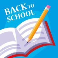terug naar schoolboek en potlood