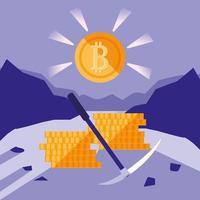 crypto mining bitcoin pictogrammen vector