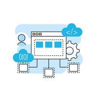 programmeer- en codeertechnologie vector