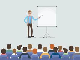 zakenman tijdens bijeenkomst in conferentieruimte