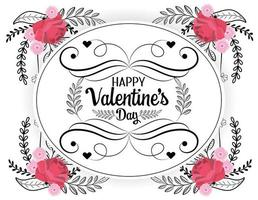 Boheemse Valentijnsdag wenskaart