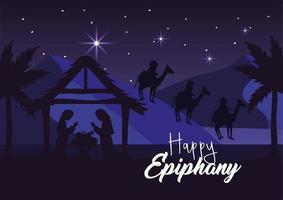 de geboorte van Jezus wenskaart vector