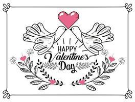 Valentijnsdag wenskaart