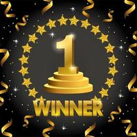 viering van winnaarbanner