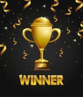 award viering sjabloonontwerp met trofee