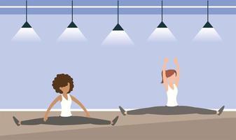 vrouwen die samen trainen