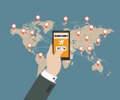 online boekingsconcept voor vliegtuigtickets