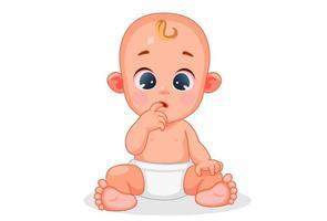schattige baby met verschillende expressie