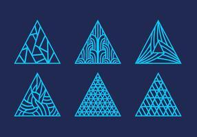 Laser gesneden abstracte driehoek patroon versiering vector