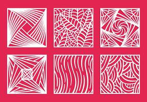 Vierkante laser gesneden patroon vector pack