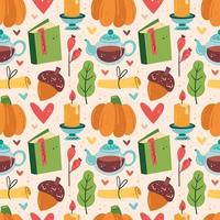 herfst elementen naadloze patroon