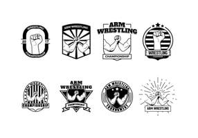 Gratis Wrestling Badge vector