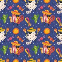 mexico vakantie schattige chinchilla's naadloze patroon vector