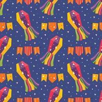 mexico vakantie kleine schattige vlaggen met pinata patroon