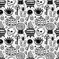zwarte inkt halloween naadloze patroon
