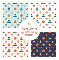thanksgiving element hand getrokken naadloze patroon