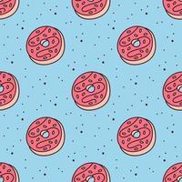 donuts naadloze patroon vector