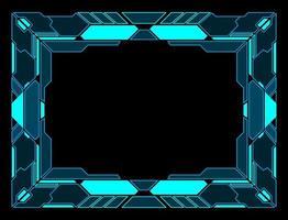 abstracte technologie interface hud frame vector