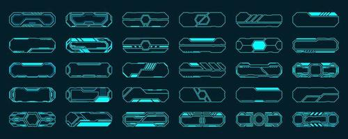 30 futuristische interface hud kaderset vector