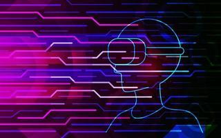 abstracte virtuele realiteitstechnologie toekomstige interface hud vector