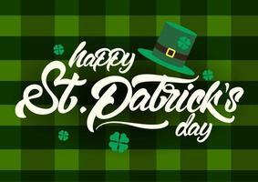 saint patrick's day viering geruite ontwerp