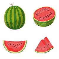 hele en gesneden watermeloen set