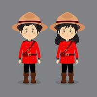 paar karakters die Canadese nationale klederdracht dragen