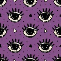 blauw oog, magisch symbool halloween naadloze patroon.