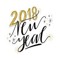 Nieuwjaar Lettering
