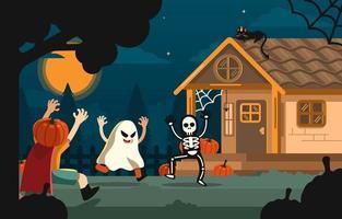 laten we spelen op Halloween-avond