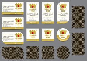 Gouden Naamkaartjesjablonen vector