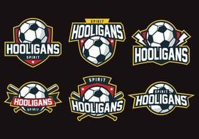 Hooligans badge vector